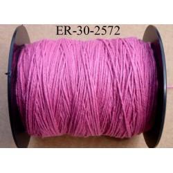 Echevette coton retors réf couleur 2572 rose art 89 longueur de bobine 300 m soit 30 échevettes de 10 m 23 cts l'échevette