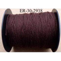 Echevette coton retors réf couleur 2938 marron art 89 longueur de bobine 300 m soit 30 échevettes de 10 m 23 cts l'échevette