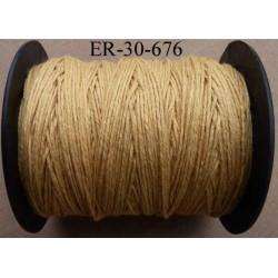 Echevette coton retors couleur 676 beige marron art 89 longueur de bobine 300 m soit 30 échevettes de 10 m 23 cts l'échevette