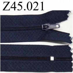 fermeture 45 cm bleu foncé non séparable zip nylon
