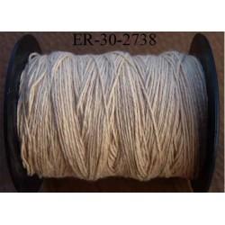 Echevette coton retors réf couleur 2738 beige art 89 longueur de bobine 300 m soit 30 échevettes de 10 m 23 cts l'échevette