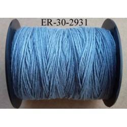 Echevette coton retors réf couleur 2931 bleu art 89 longueur de bobine 300 m soit 30 échevettes de 10 m 23 cts l'échevette
