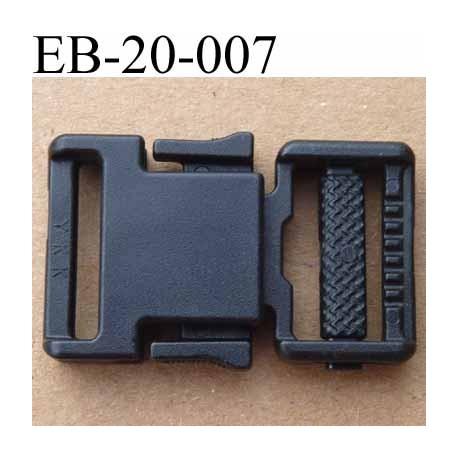 buying now on sale best value boucle clip YKK en plastique noir passage pour une sangle de 20 mm de  largeur passant coulissant - mercerie-extra
