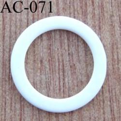 anneau métallique plastifié couleur blanc brillant laqué diamètre ext 12 mm int 9 mm vendu à l'unité haut de gamme
