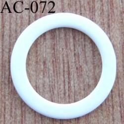 anneau métallique plastifié couleur blanc brillant laqué diamètre extérieur 14 mm intérieur 10 mm vendu à l'unité haut de gamme