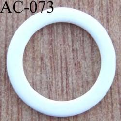 anneau métallique plastifié couleur blanc brillant laqué diamètre extérieur 16 mm intérieur 12 mm vendu à l'unité haut de gamme
