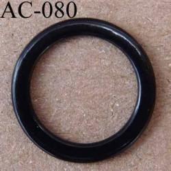 anneau métallique plastifié couleur noir brillant  diamètre extérieur 12 mm intérieur 9 mm vendu à l'unité haut de gamme
