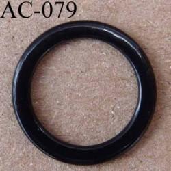 anneau métallique plastifié couleur noir brillant diamètre extérieur 14 mm intérieur 10 mm vendu à l'unité haut de gamme