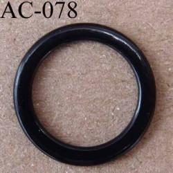 anneau métallique plastifié couleur noir brillant diamètre extérieur 16 mm intérieur 12 mm vendu à l'unité haut de gamme