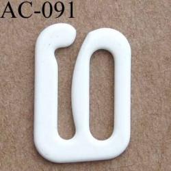crochet en métal 10 mm couleur naturel brillant pour soutien gorge vendu à l'unite haut de gamme