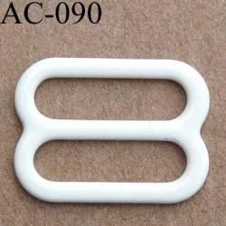 boucle de réglage réglette métal plastifié naturel brillant  pour soutien gorge longueur 12 mm vendu à l'unité haut de gamme