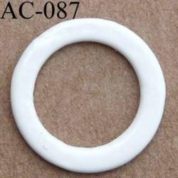 anneau métallique plastifié couleur naturel brillant diamètre extérieur 12 mm intérieur 9 mm vendu à l'unité haut de gamme