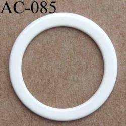 anneau métallique plastifié couleur naturel brillant diamètre extérieur 16 mm intérieur 12 mm vendu à l'unité haut de gamme