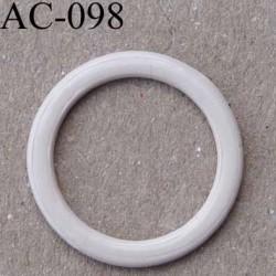 anneau métallique plastifié couleur chair brillant diamètre extérieur 16 mm intérieur 12 mm vendu à l'unité haut de gamme