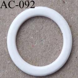anneau métallique plastifié couleur perle brillant diamètre extérieur 14 mm intérieur 10 mm vendu à l'unité haut de gamme