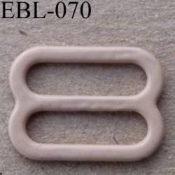 boucle de réglage réglette métal plastifié chair  brillant  pour soutien gorge longueur 12 mm vendu à l'unité haut de gamme