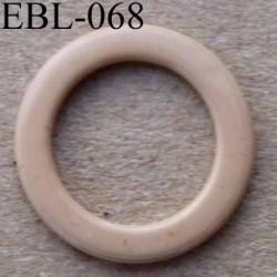 anneau métallique plastifié couleur chair brillant diamètre extérieur 12 mm intérieur 9 mm vendu à l'unité haut de gamme