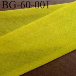 biais ruban galon a plat plié 60 +10+10 mm en coton couleur jaune  largeur 6 cm plus 2 fois 10 mm vendue au mètre