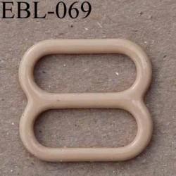 boucle de réglage réglette métal plastifié chair  brillant  pour soutien gorge longueur 10 mm vendu à l'unité haut de gamme