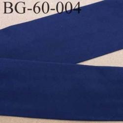 biais ruban galon a plat plié 60 +10+10 mm en coton couleur bleu marine largeur 6 cm plus 2 fois 10 mm vendue au mètre