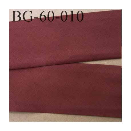 biais ruban galon a plat plié 60 +10+10 mm en coton couleur marron largeur 6 cm plus 2 fois 10 mm vendue au mètre
