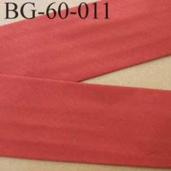 biais ruban galon a plat plié 60 +10+10 mm en coton couleur framboise rouille largeur 6 cm plus 2 fois 10 mm prix au mètre