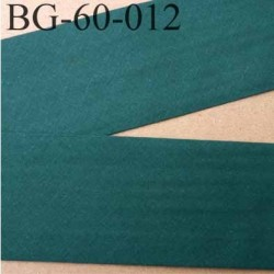 biais ruban galon a plat plié 60 +10+10 mm en coton couleur vert largeur 6 cm plus 2 fois 10 mm prix au mètre