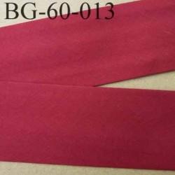 biais ruban galon a plat plié 60 +10+10 mm en coton couleur rouge largeur 6 cm plus 2 fois 10 mm prix au mètre