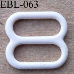 boucle de réglage réglette métal plastifié  perle brillant  pour soutien gorge longueur 10 mm vendu à l'unité haut de gamme