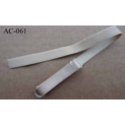 bretelle de soutien gorge réglable chair beige brillant longueur 33 cm largeur 10 mm vendu à l'unité