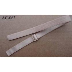 bretelle de soutien gorge simple reglette chair brillant longueur 32 cm largeur 12 mm vendu à l'unité