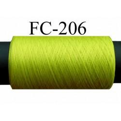 bobine de fil texturé polyester couleur vert fluo  longueur 200 ou de 500 mètres Fabriqué en France