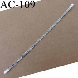 baleine spiralée en acier inoxydable avec embouts qui permet la déformation pour bustier corset guêpière longueur 24 cm