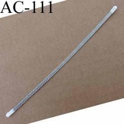 baleine spiralée avec embouts en acier inoxydable qui permet la déformation pour bustier corset guêpière longueur 16 cm