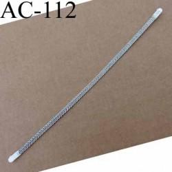 baleine spiralée avec embouts en acier inoxydable qui permet la déformation pour bustier corset guêpière longueur 21.5 cm