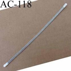 baleine spiralée avec embouts en acier inoxydable qui permet la déformation pour bustier corset guêpière longueur 13 cm