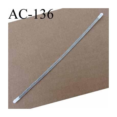 baleine spiralée avec embouts en acier inoxydable qui permet la déformation pour bustier corset guêpière longueur 32.5 cm