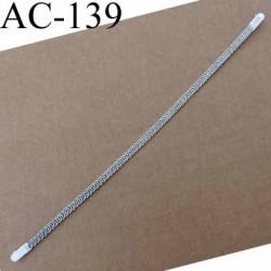 baleine spiralée avec embouts en acier inoxydable qui permet la déformation pour bustier corset guêpière longueur 26.50 cm