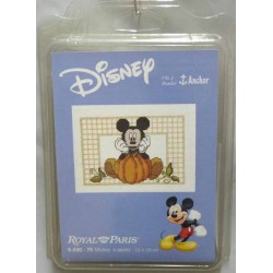 kit à broder disney  MICKEY 13 X 19 cm royal paris réf 6.430.70