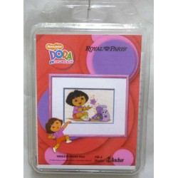 kit à broder nickelodeon DORA royal paris réf 9886430.00093