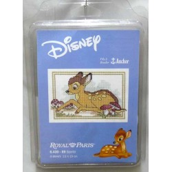kit à broder disney BAMBI 13 X 19 cm royal paris réf 6.430.69