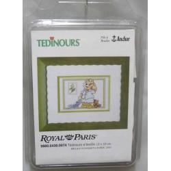 kit à broder tedinours TEDINOURS S'EVEILLE 13 X 19 cm royal paris réf 9880.6430.0074
