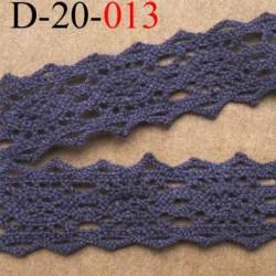 dentelle crochet ancienne 100 % coton gris largeur 20 mm prix au mètre
