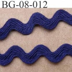 ruban galon croquet serpentine galon plat largeur 8 mm  couleur bleu marine prix au mètre