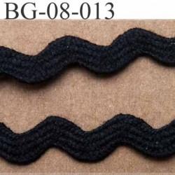 ruban galon croquet serpentine galon plat largeur 8 mm  couleur noir prix au mètre