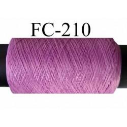 bobine de fil mousse polyester couleur lilas longueur 200 ou de 500 mètres fabriqué en France