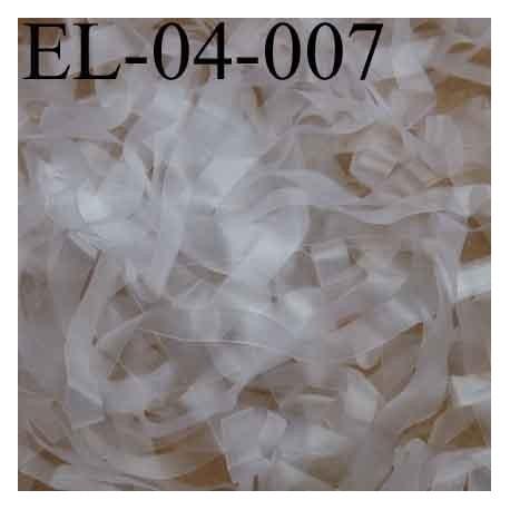 Elastique lastin transparent caoutchouc laminette  largeur 4 mm prix au mètre