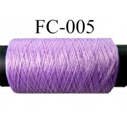 bobine de fil polyester n° 120/3 couleur bleu longueur 500 mètres largeur de la bobine 5.5 cm fabriqué en france