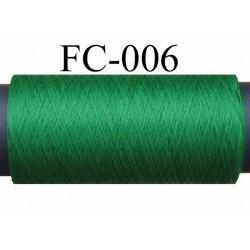 bobine de fil mousse texturé polyester couleur vert longueur 500 mètres largeur de la bobine 5.5 cm fabriqué en France
