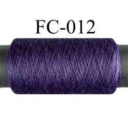 bobine de fil polyester n° 120 couleur violet foncé longueur 500 mètres fabriqué en France